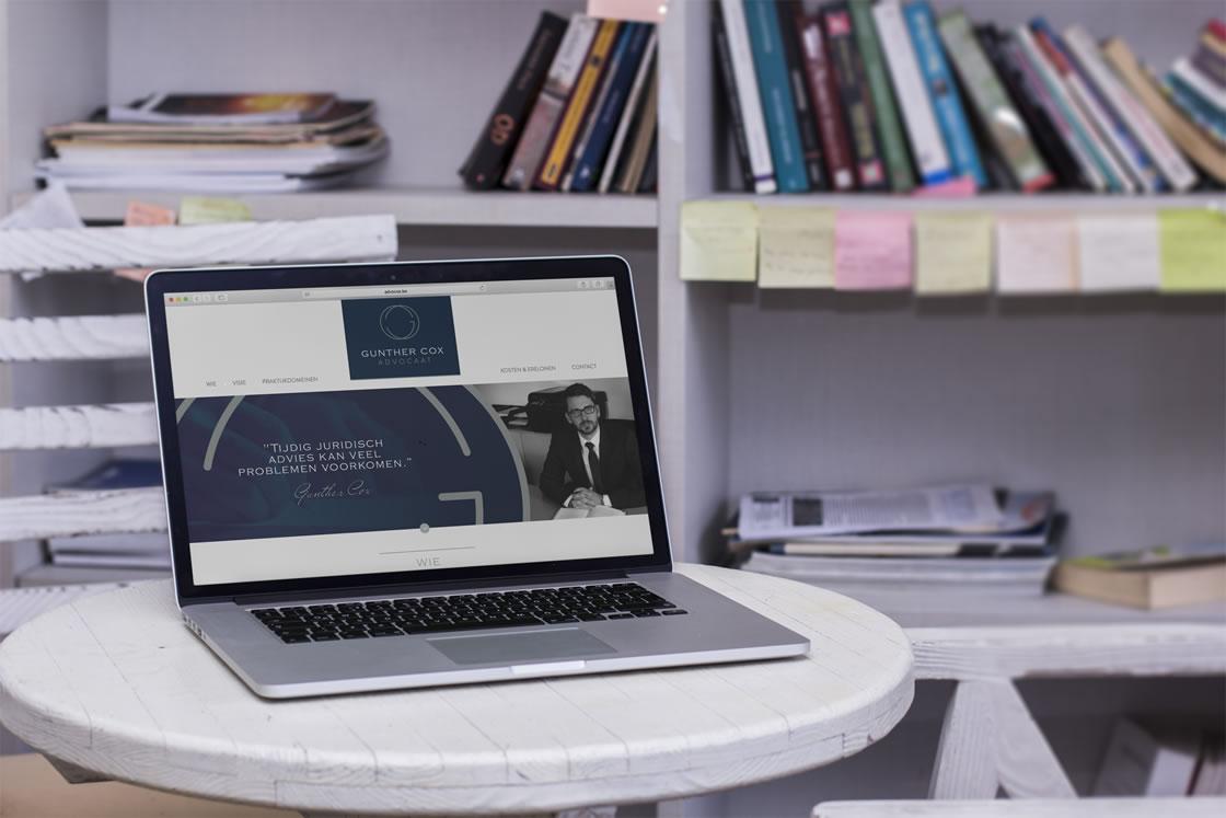 Technische uitwerking van een responsive Wordpress-website voor advocaat Gunther Cox te Sint-Truiden, Limburg